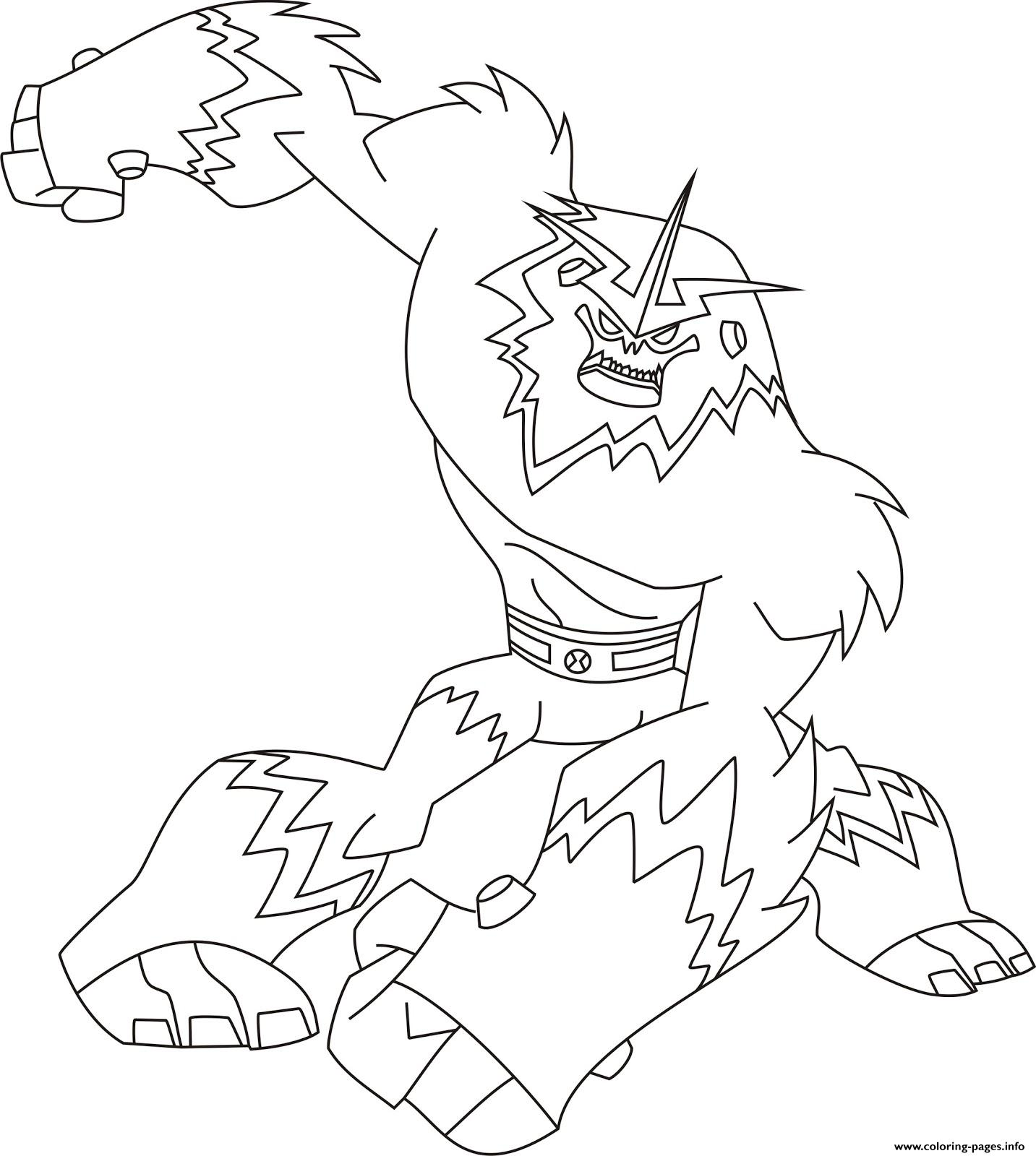 Coloring pages printable ben 10