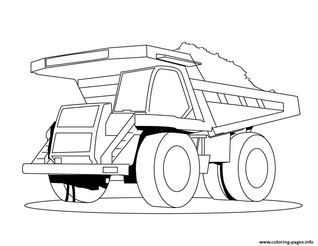 Dessin Camion Benne 10 coloring pages