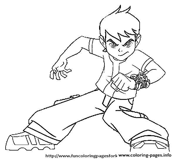 Ben 10 Coloring Pages Free Printable Benten Coloring Pages