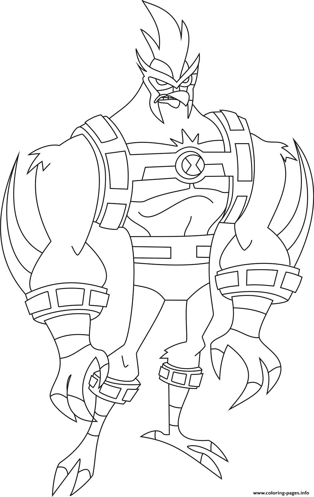 Dessin Ben 10 27 Coloring Pages