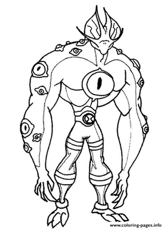 Dessin Ben 10 8 Coloring Pages Printable