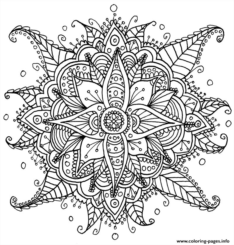 Zen Antistress Free Adult 24 Coloring Pages Printable