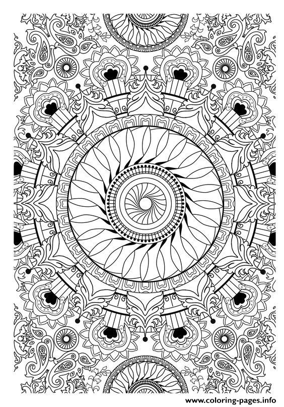 Zen antistress free adult 28 coloring pages printable Zen coloring book for adults download