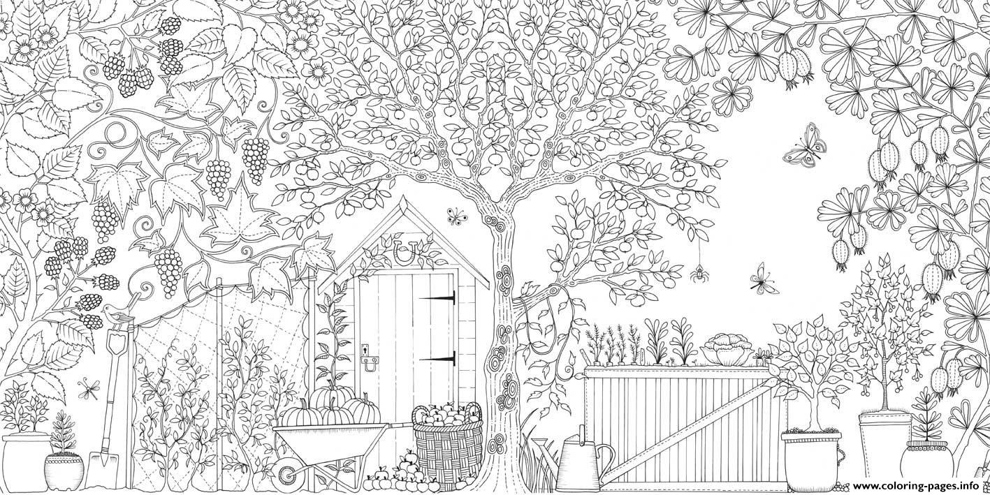 grown up secret garden coloring pages - Garden Coloring Pages