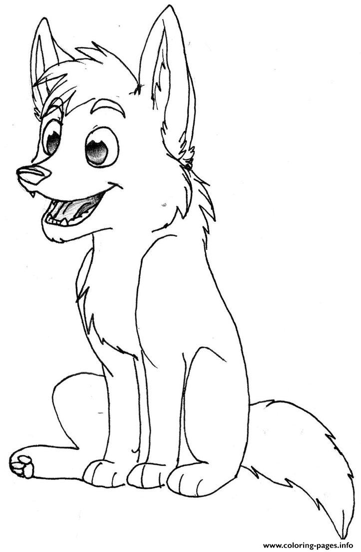 Baby Wolf Coloring Pages Printable