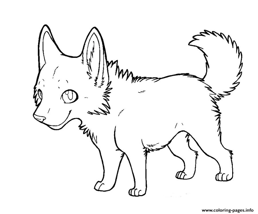 Cartoon Wolf Puppy Coloring Pages Printable