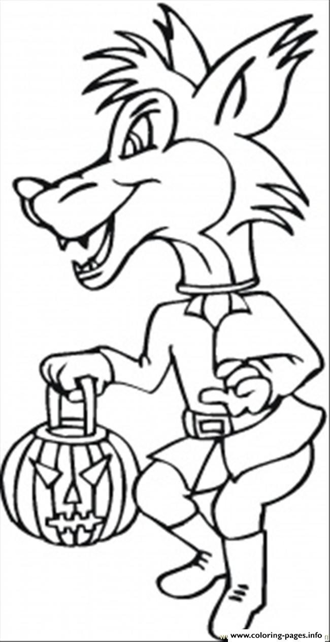 Costume Wolf Coloring Pages Printable