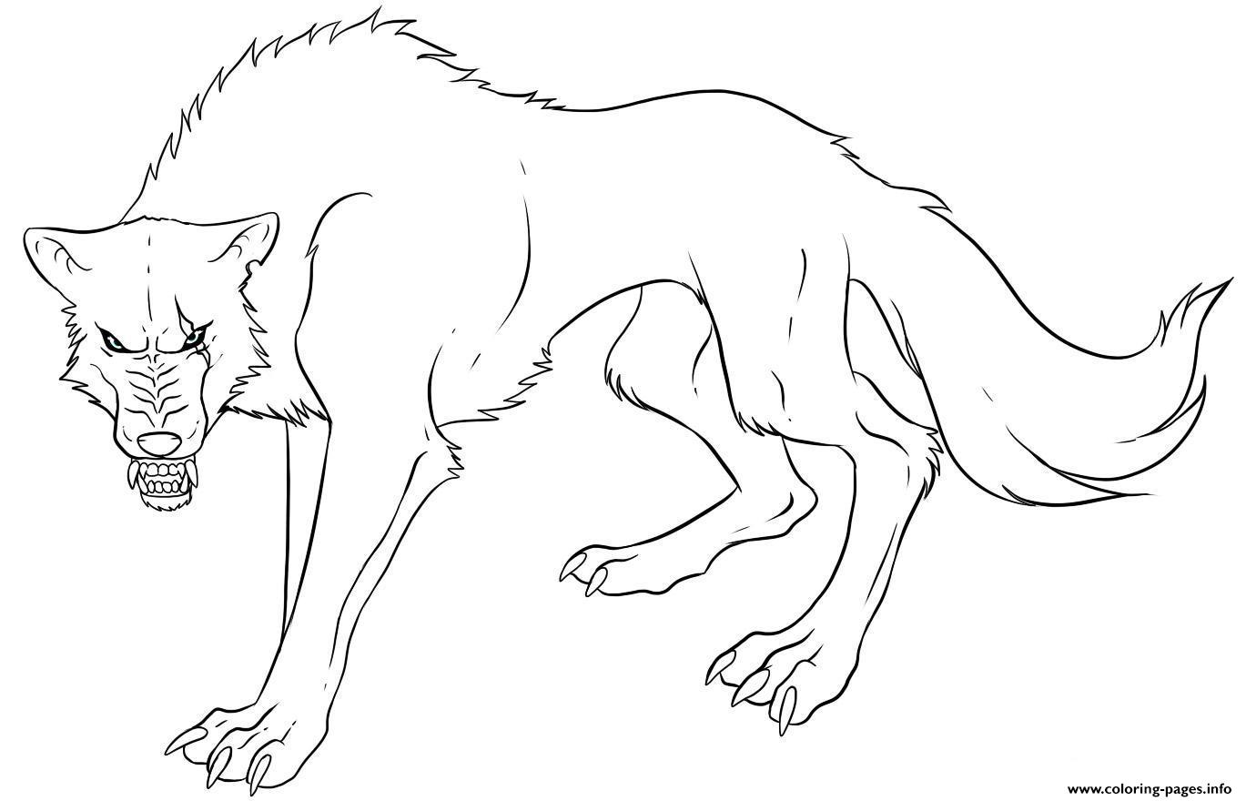 anime wolf s print coloring pages printable
