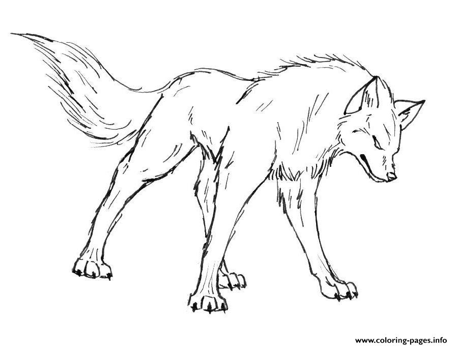 Angry Wolf S Print Coloring Pages Printable