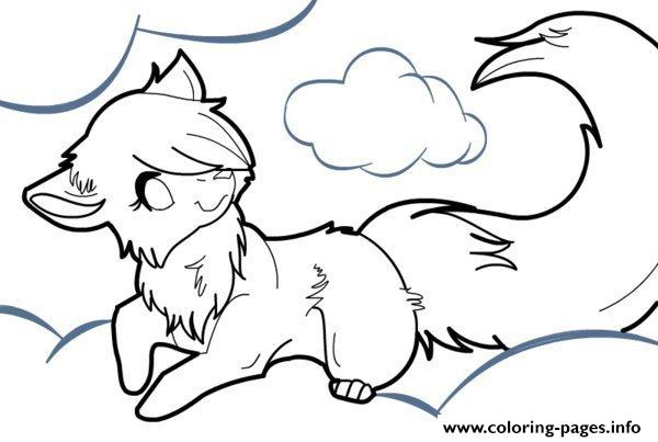 anime wolf coloring pages