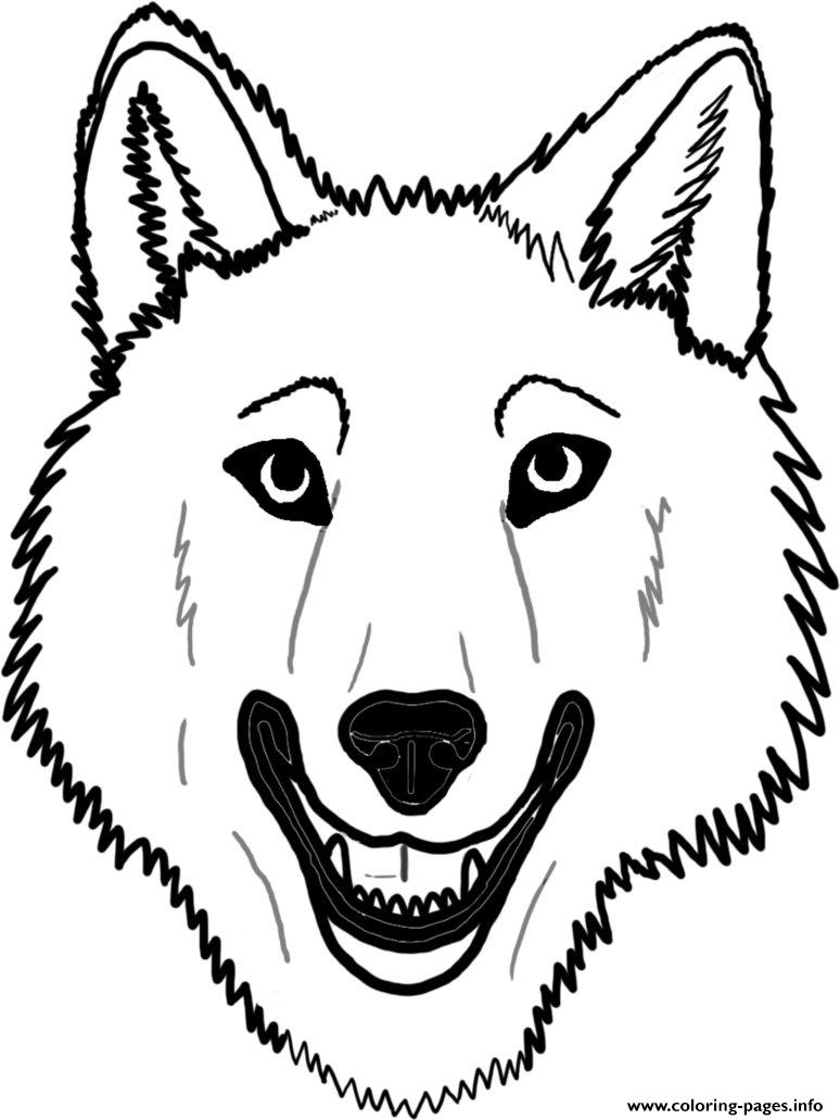 Wolf face coloring - photo#10