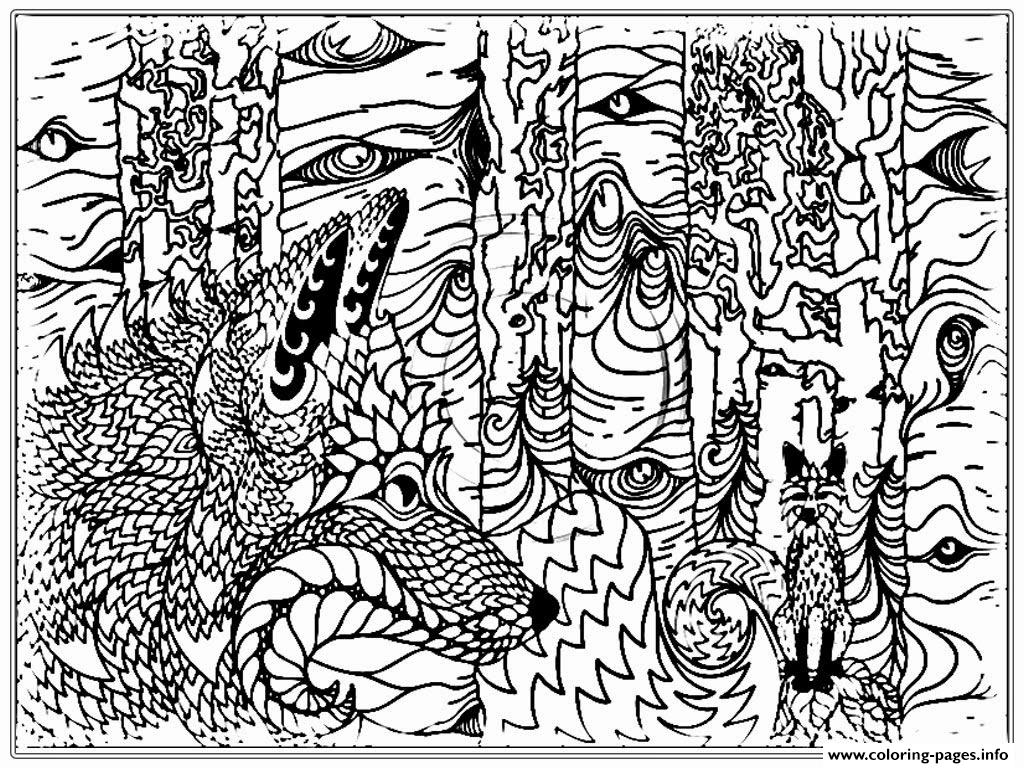 Realistic Adult Wolf Coloring Pages
