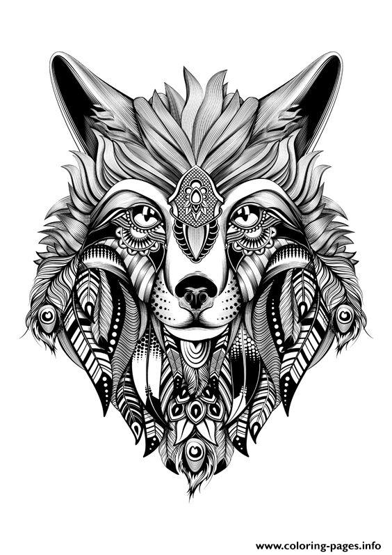 Premium Wolf Adult Hd High Quality Coloring Pages