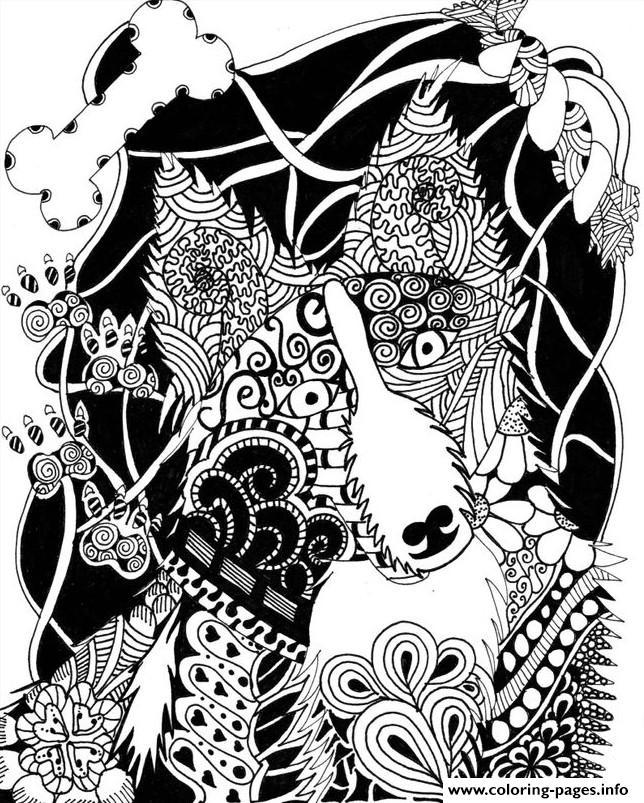 Wolf Mandala Coloring Pages Printable