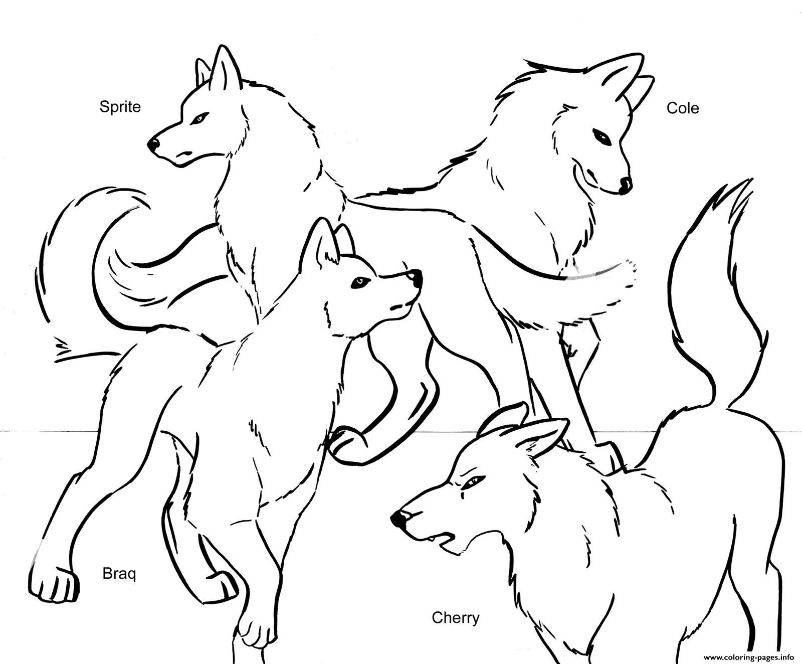 Wolf Pack Team Coloring Pages Printable