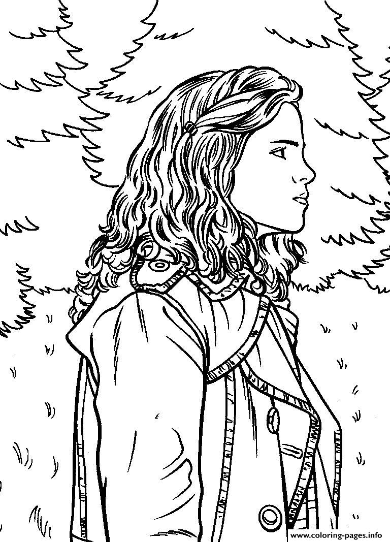 Harry Potter Coloring Book Cover ~ Harry potters hermione coloring pages printable