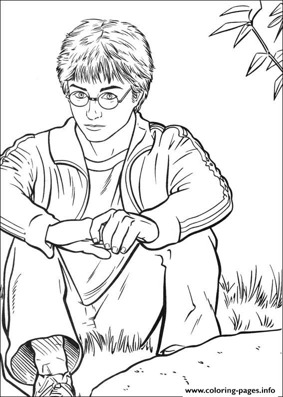 Harry Potter Pictures To Color Coloring Pages Printable