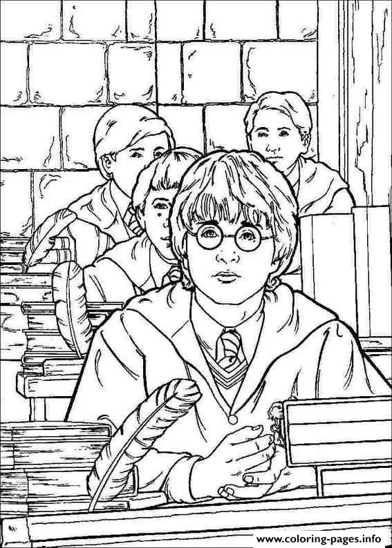 Printable Harry Potters Coloring Pages Printable