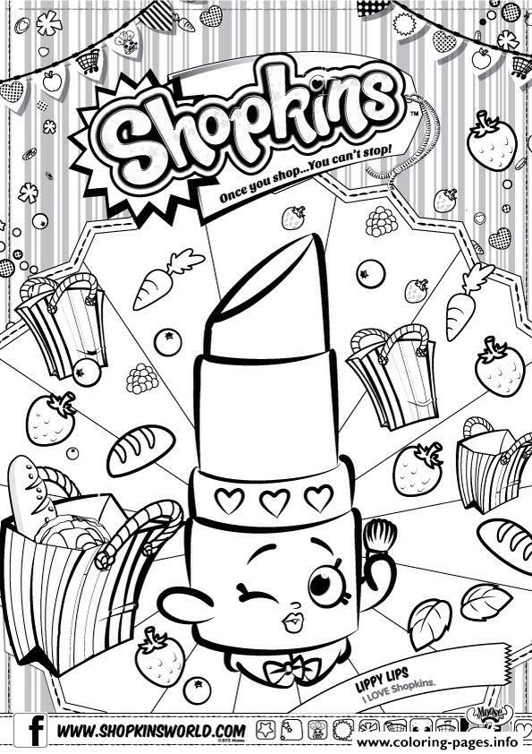 Shopkins Lippy Lips Coloring Pages Printable
