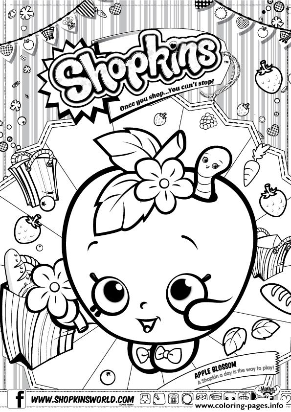 Shopkins Apple Blossom Coloring Pages Printable