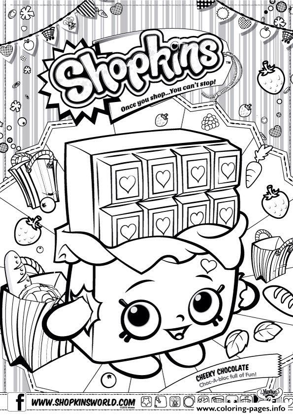 Shopkins Cheeky Chocolate Coloring Pages Printable