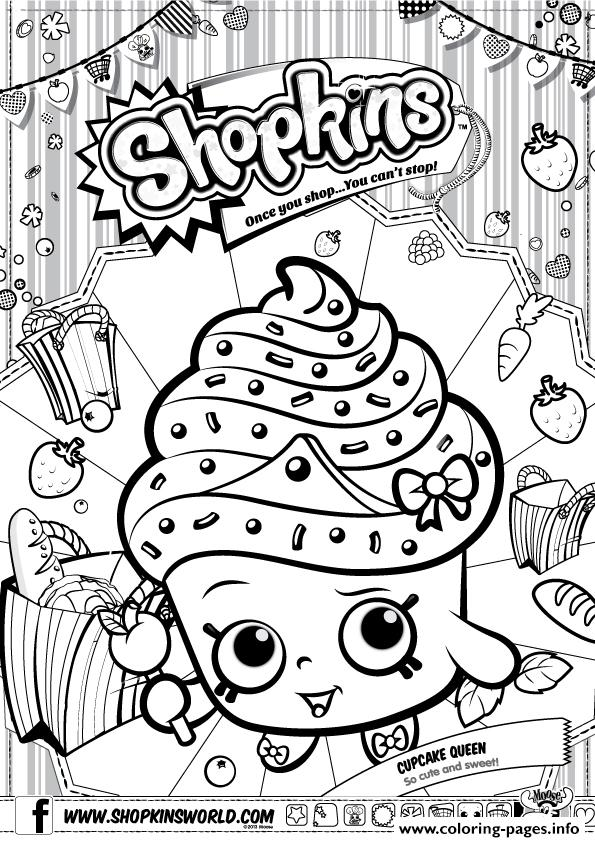 Shopkins Cupcake Queen Coloring Pages Printable Coloring Pages Printable