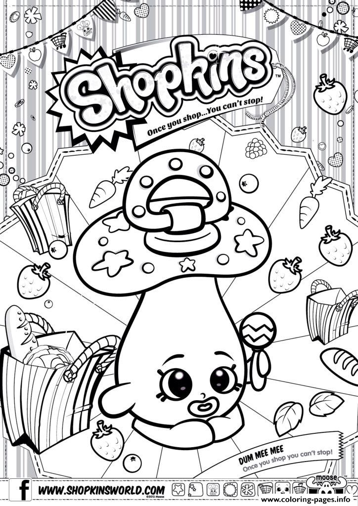 Shopkins Dum Mee Mee Coloring Pages Printable