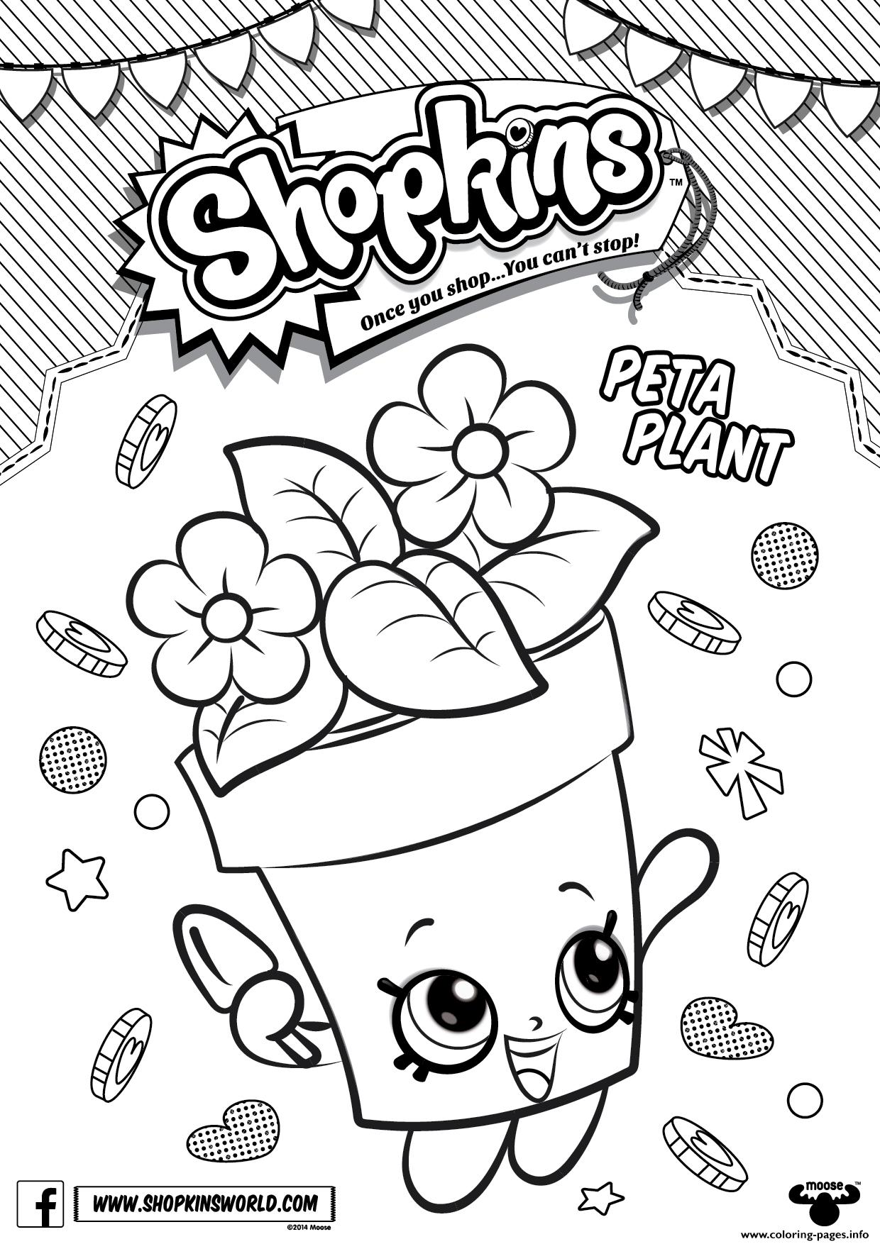 Shopkins Peta Plant Coloring Pages