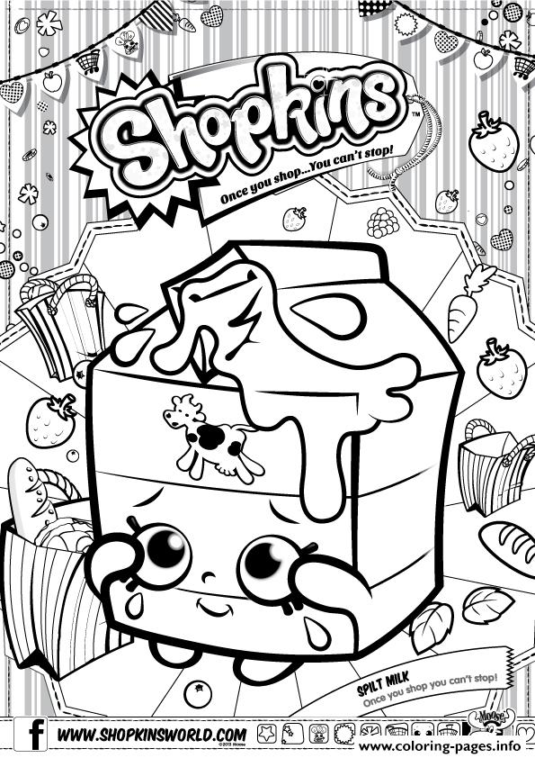 Shopkins Split Milk Coloring Pages