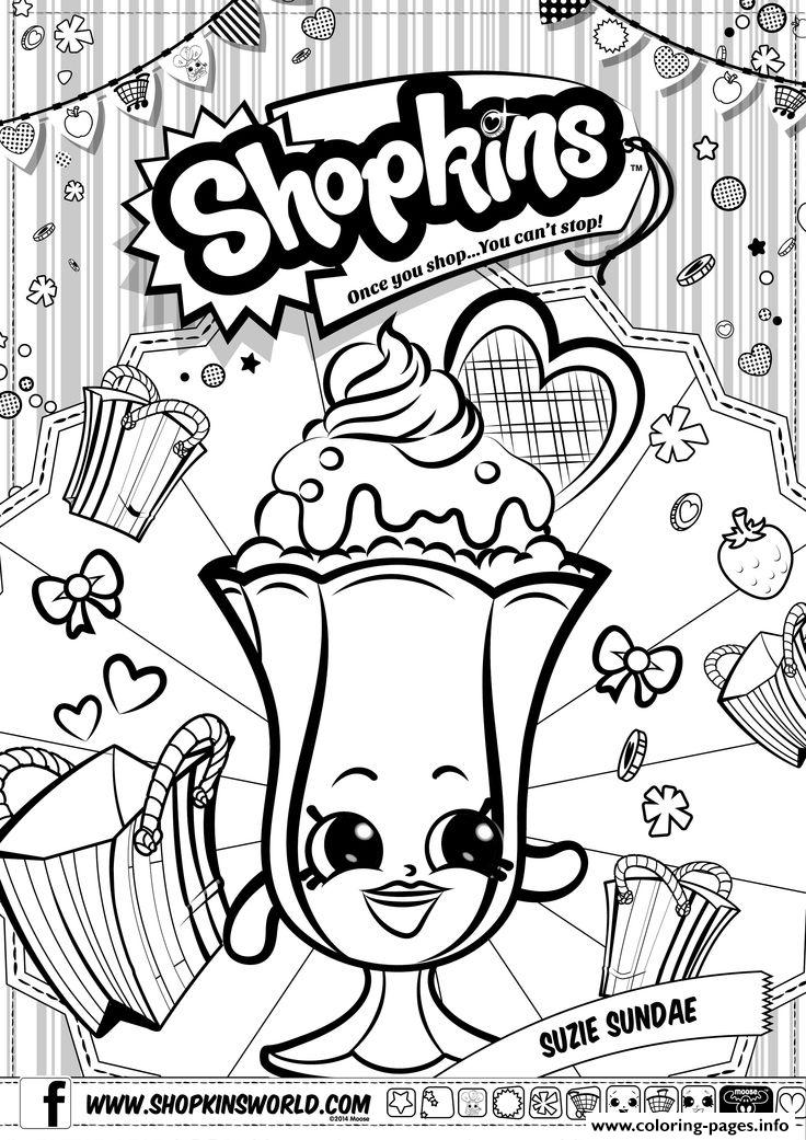 Shopkins Suzie Sundae Coloring Pages Printable