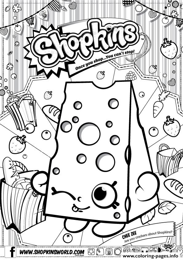 Shopkins Chee Zee Coloring Pages Printable