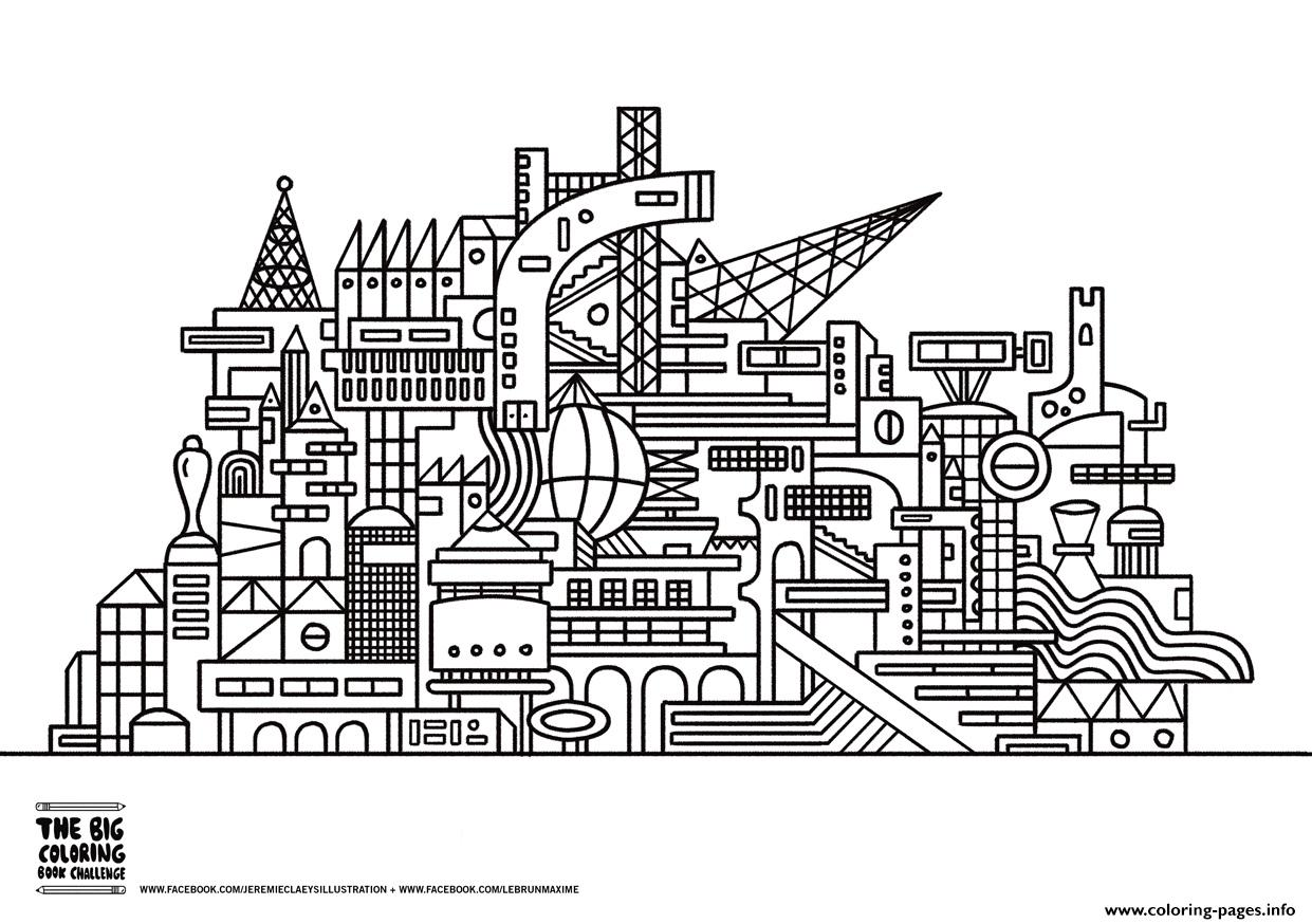 Twisted City coloring pages
