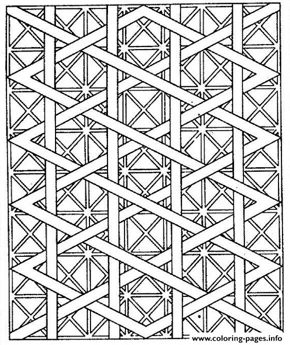 Adults Patterns Lines Coloring Pages Printable