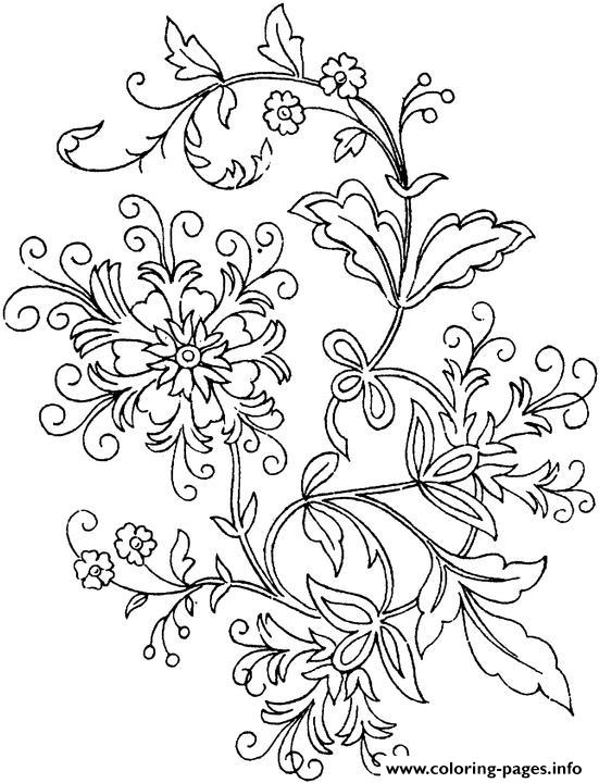 free printable easy flower coloring pages | Simple Flower Coloring Pages Printable