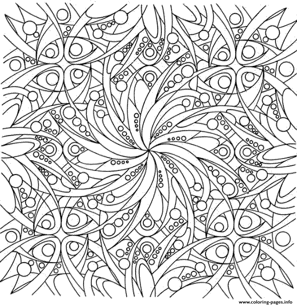 Detailed Flowers Adults Coloring Pages Printable