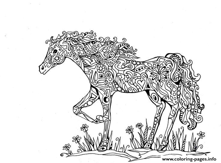 adults difficult animals horse printable hd coloring pages - Horses Printable Coloring Pages