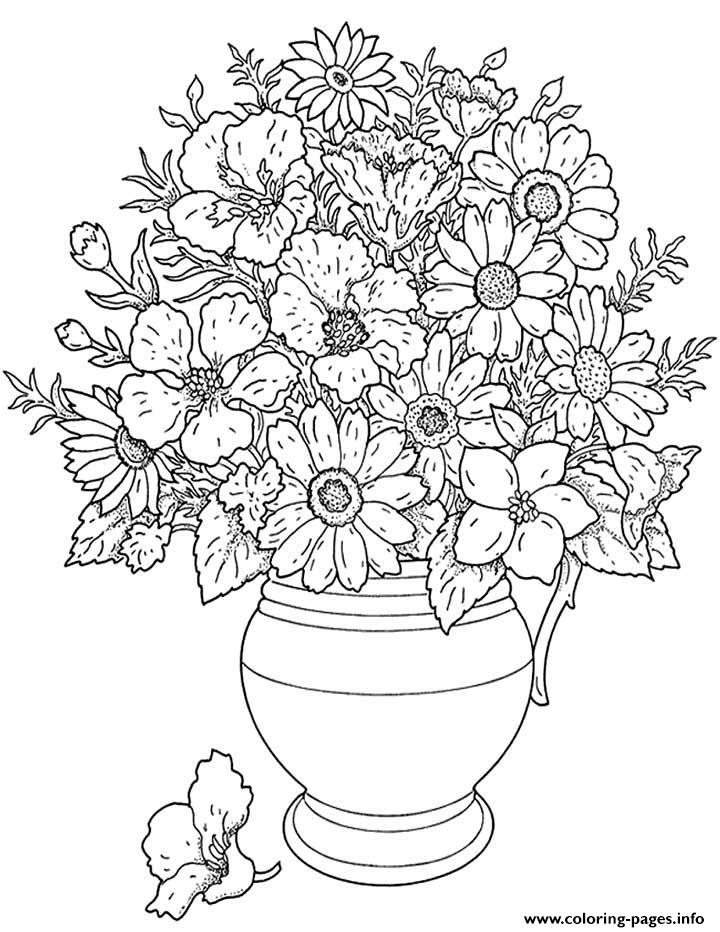 Flowers Adults coloring pages