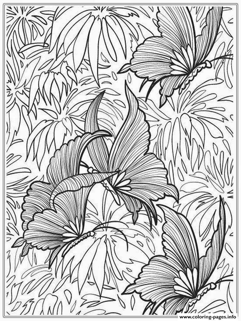 printable butterfly for adults coloring pages