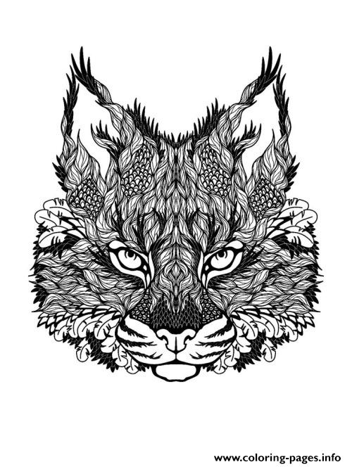 Adults Difficult Animals Free Coloring Pages Print Download