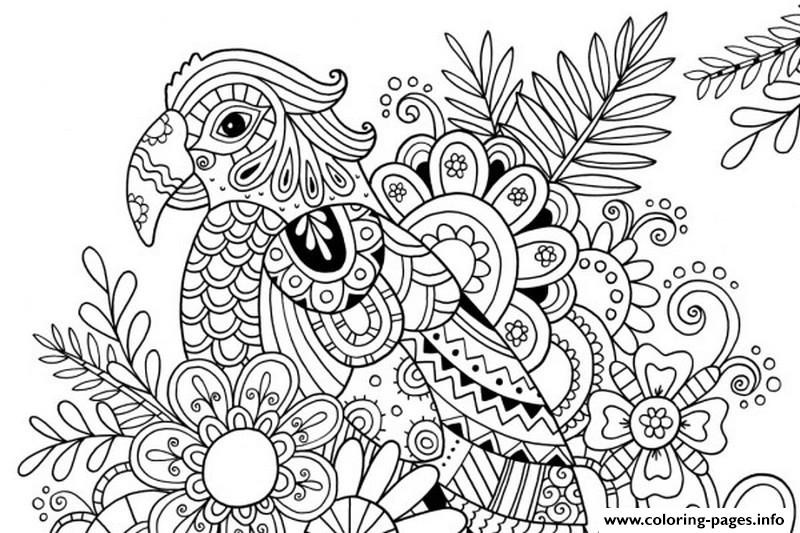 Adult Summer Flower Color Coloring Pages Printable