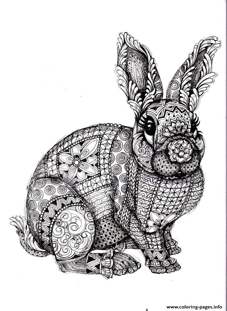 Adults Difficult Animals Coloring Pages