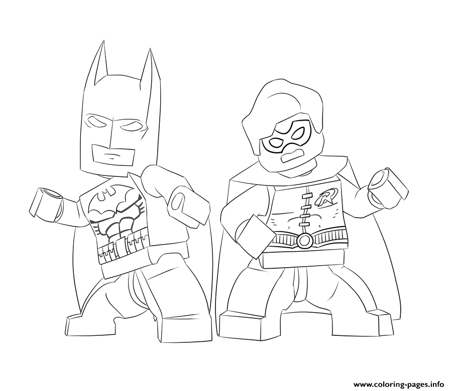 Batman And Robin Lego Colouring Print Coloring Pages
