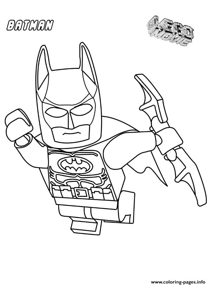Batman Lego In The Airs Movie Coloring Pages Printable