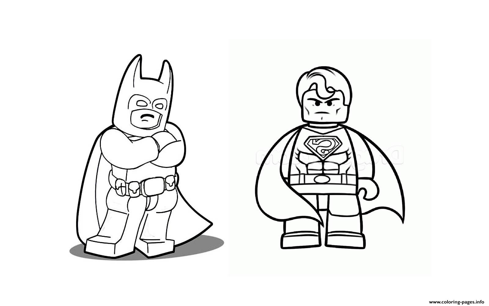 Batman Vs Superman Lego 2016 Coloring Pages Print Download