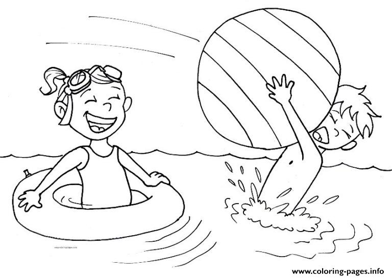 Happy Kids In A Summer Day F9 Coloring Pages Printable