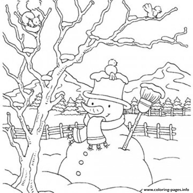 winter snowman coloring pages - photo#38