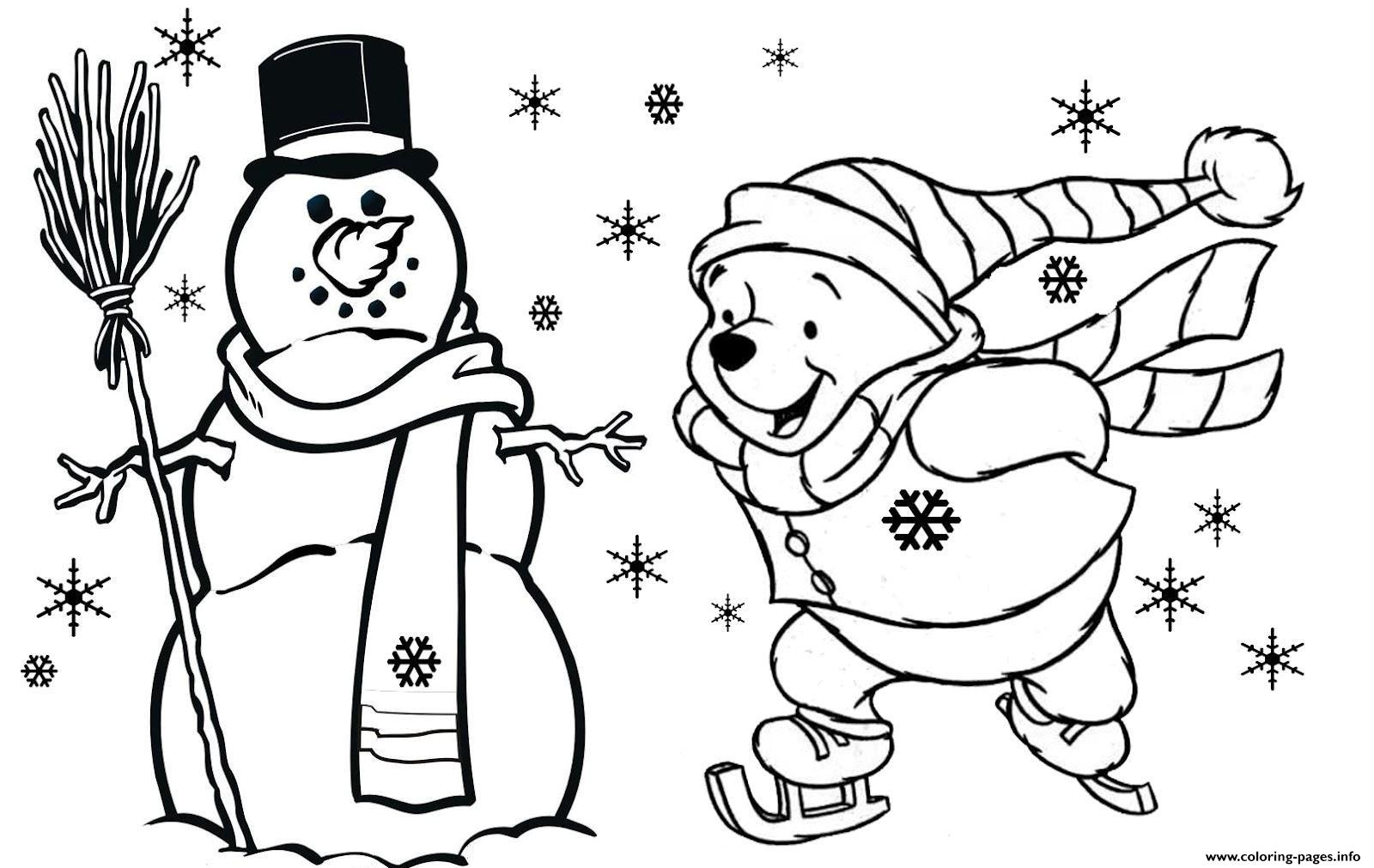 Winnie The Pooh Free Christmas S For Kidsfd59 Coloring Pages ...