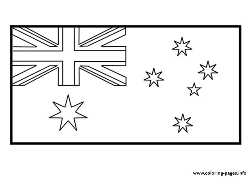 Kids Australian Flag D942 Coloring Pages Printable