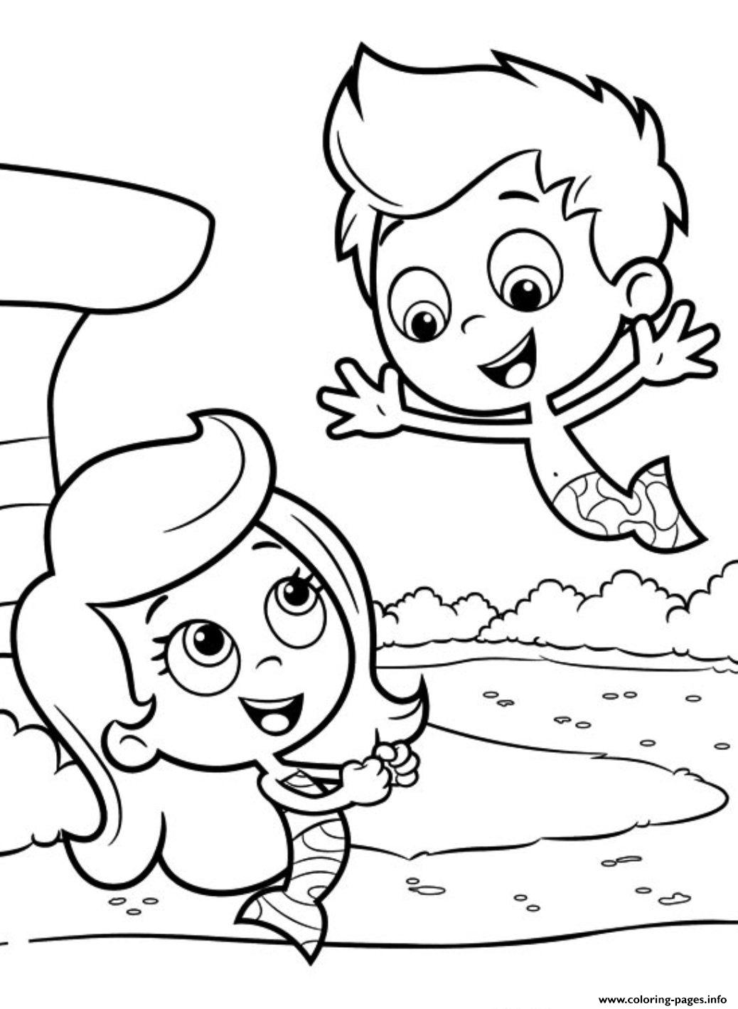 Kids Bubble Guppies Sbb2f Coloring Pages Printable