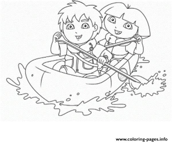 Dora And Diego S For Kidsc39c Coloring Pages Printable